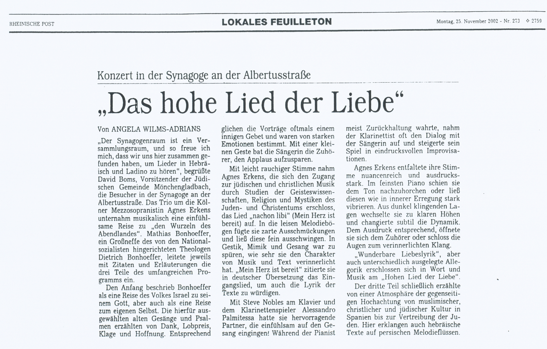 Das_hohe_Liede_der_Liebe_Zeitungsartikel