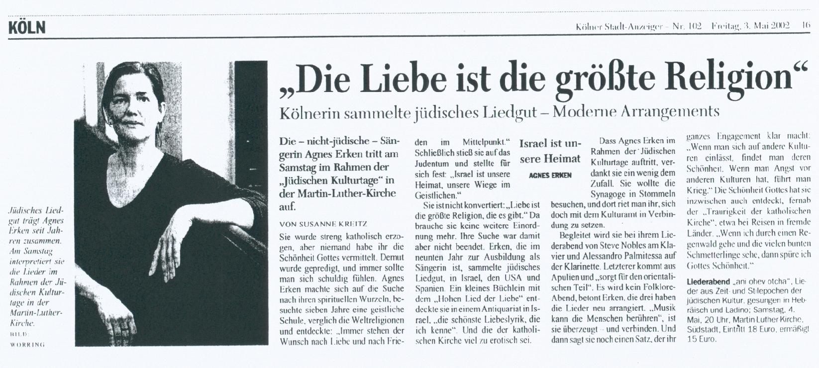 die_Liebe_ist_die_groeste_Religion-Zeitungsartikel